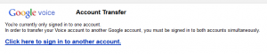 Sign in to second Google account to start transfer