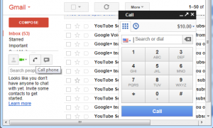 Google Voice Gmail call
