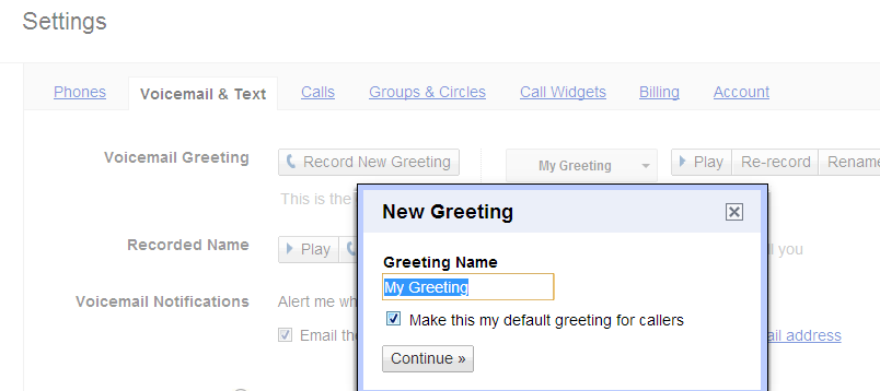 Google voicemail custom greetings and settings m4hsunfo