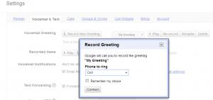 Google Voice custom greeting