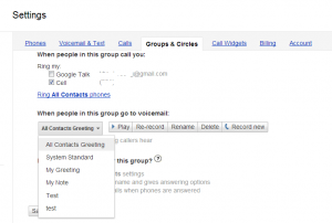 Google Voice custom greeting for groups - 2