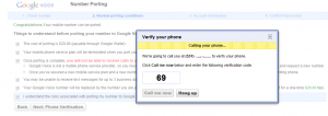 porting your number to google voice
